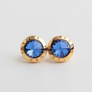 Henri Bendel Round Zircon Stud Earrings